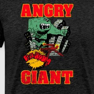 Vintage Angry Giant cartoon-stijl - Mannen Premium T-shirt