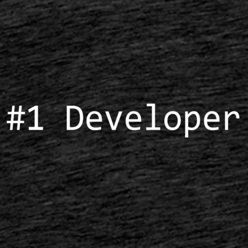 #1 Developer - White - Men's Premium T-Shirt