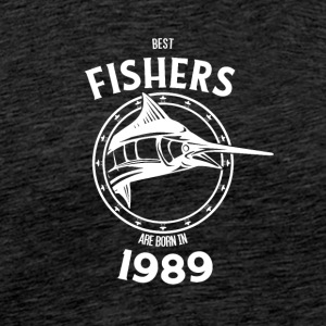 Present for fishers born in 1989 - Men's Premium T-Shirt