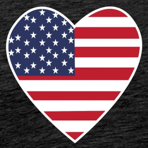 USA Love Heart - Mannen Premium T-shirt