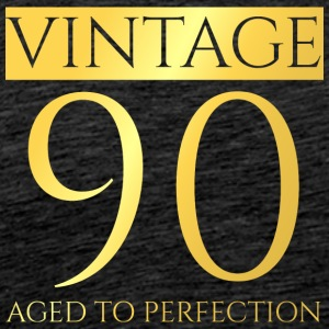 90-årsdag: Vintage 90 - Aged To Perfection - Premium-T-shirt herr