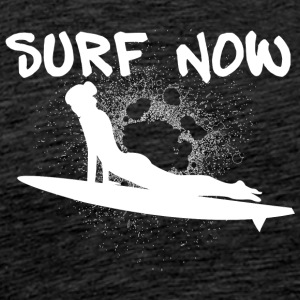 surfer girl 3 wit - Mannen Premium T-shirt