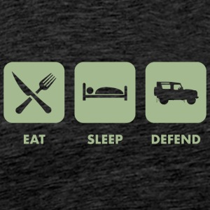 Eat, Sleep & Forsvar - Herre premium T-shirt