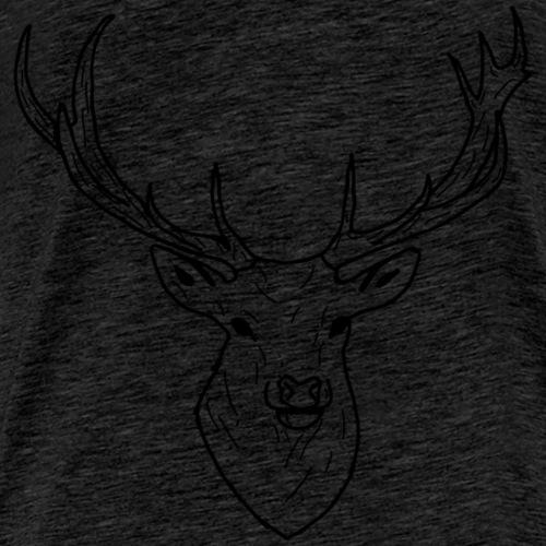 Deer White & Black - T-shirt Premium Homme