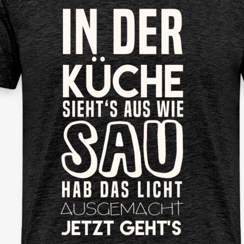 Hier sieht's aus wie Sau - Männer Premium T-Shirt