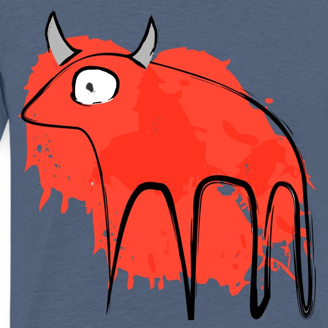 tribal red cow