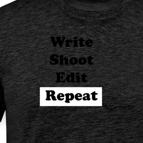 Das Motto für jeden Filmemacher - Männer Premium T-Shirt
