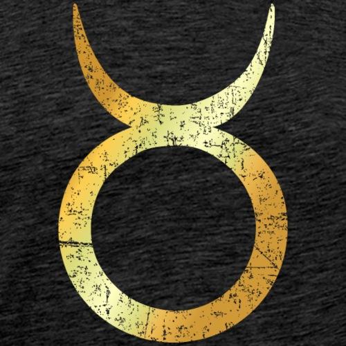 Sternzeichen Stier (Vintage/Goldgelb) - Männer Premium T-Shirt