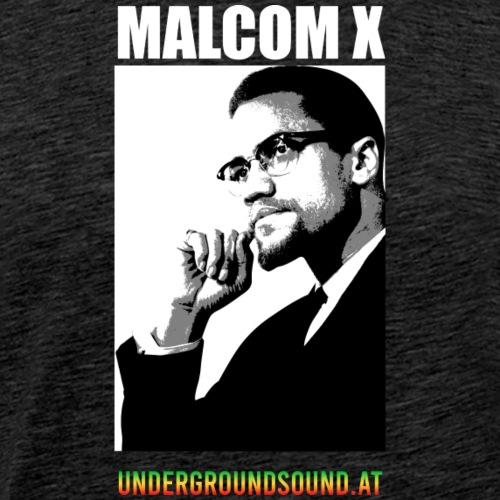 Malcom X undergroundsound.at - Männer Premium T-Shirt