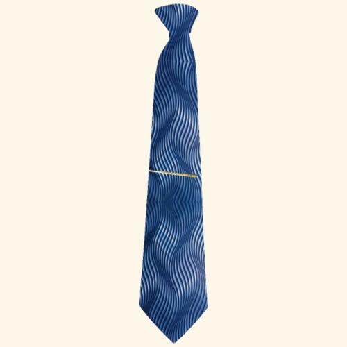 Krawatte 118 mit Goldnadel - Männer Premium T-Shirt
