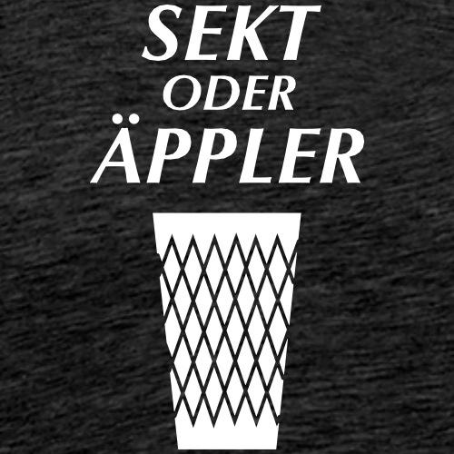 Sekt oder Äppler - Männer Premium T-Shirt
