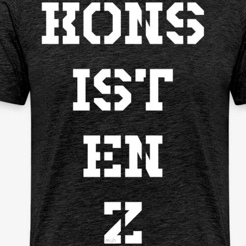 Konsistenz - weiß - Männer Premium T-Shirt