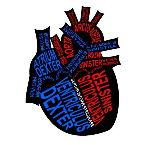Herz - Mannen Premium T-shirt