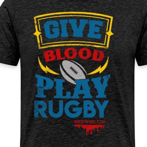 Give Blood Black Colour Version 2 - Men's Premium T-Shirt