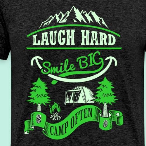 smile big camp often - funny Camper T-Shirt - Männer Premium T-Shirt