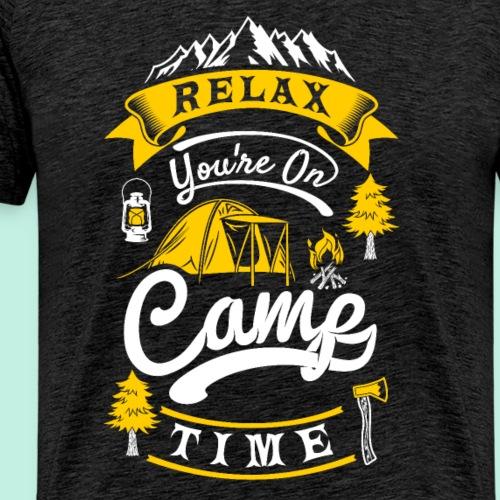 relax camp time - Camper T-Shirt - Männer Premium T-Shirt