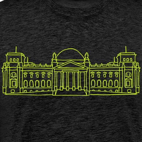 Palazzo del Reichstag a Berlino - Maglietta Premium da uomo