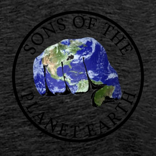SONS OF THE PLANET EARTH black text no backround - Miesten premium t-paita
