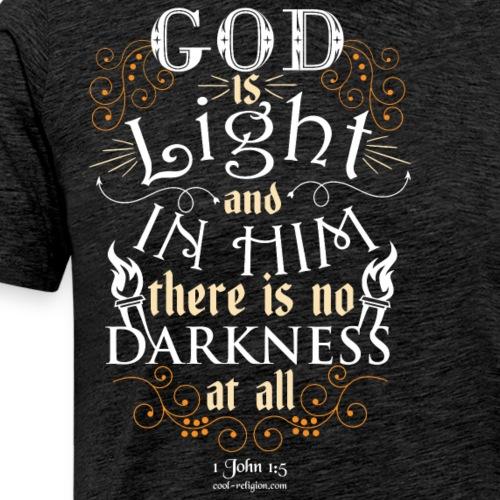 1 John 1: 5 - God is Light - Men's Premium T-Shirt