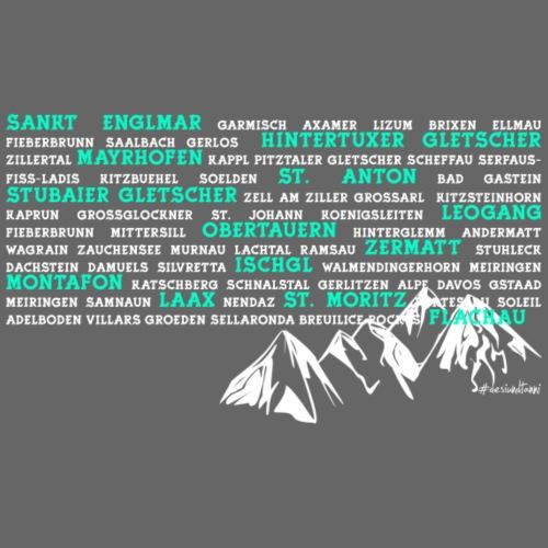 Ski Gebiete - Männer Premium T-Shirt