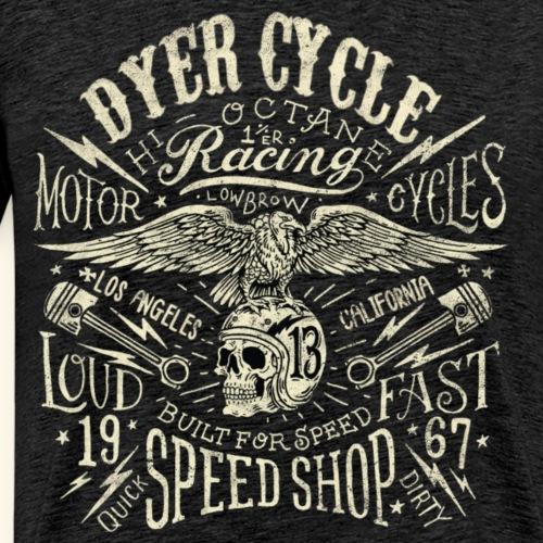 Dyer Cycle Speed Shop 5a - Männer Premium T-Shirt