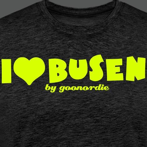 I love Busen Front Gelb Neon