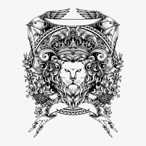 Lion Crest - Men's Premium T-Shirt