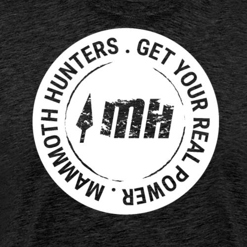Mammoth Hunters / Círculo completo blanco - Camiseta premium hombre