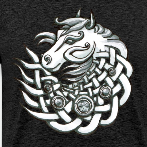 Keltischer Pferde Kopf Geschenk Stolz Knoten - Men's Premium T-Shirt