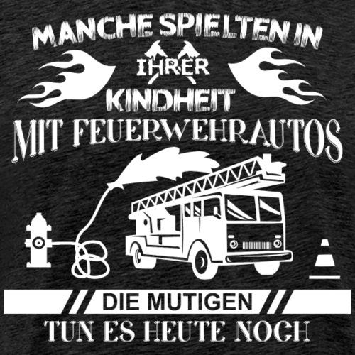 Feuerwehr mutig - Männer Premium T-Shirt