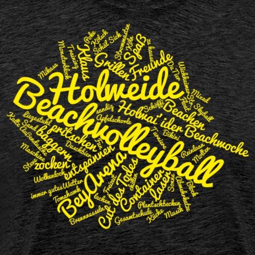 Holweide Wolke gelb - Männer Premium T-Shirt