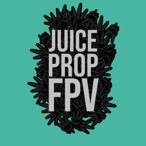 JuicePropFPV LOGO Pile TEXT Black DOUBLE - Männer Premium T-Shirt