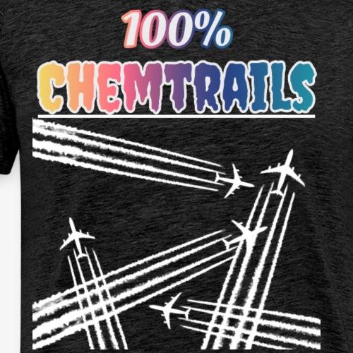 100 Chemtrails - Not Contrails - Men's Premium T-Shirt