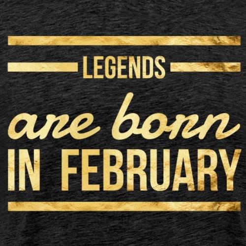 Verjaardag shirt februari design - Mannen Premium T-shirt