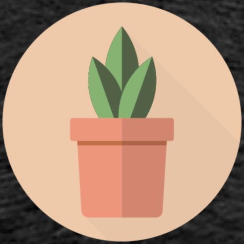 Flat 3 Leaf Potted Plant Motif - Men's Premium T-Shirt