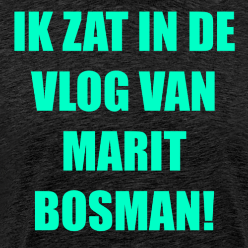 IK ZAT IN DE VLOG VAN MARIT BOSMAN (OFFICAL) LIME - Mannen Premium T-shirt