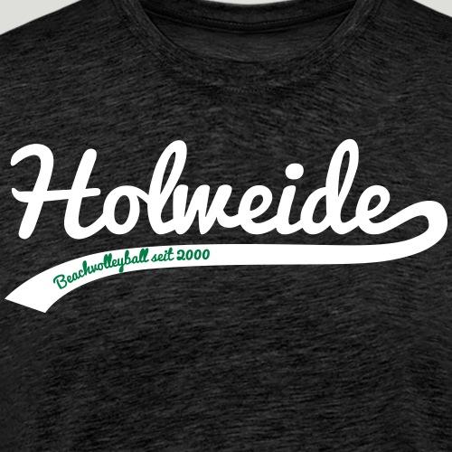 Holweide swoosh 2farbig - Männer Premium T-Shirt