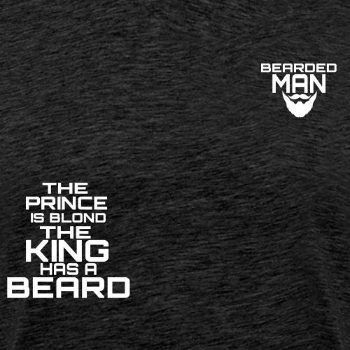 logo beardedman bianco - Maglietta Premium da uomo