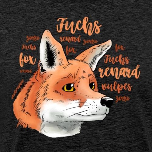 Fuchsportrait mit Lettering - Männer Premium T-Shirt
