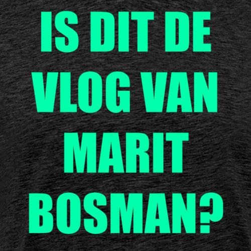 IS DIT DE VLOG VAN MARIT BOSMAN (OFFICAL) LIME - Mannen Premium T-shirt