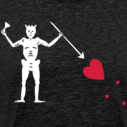 Blackbeard Pirate Flag - Maglietta Premium da uomo