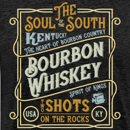 Bourbon Whiskey - Männer Premium T-Shirt