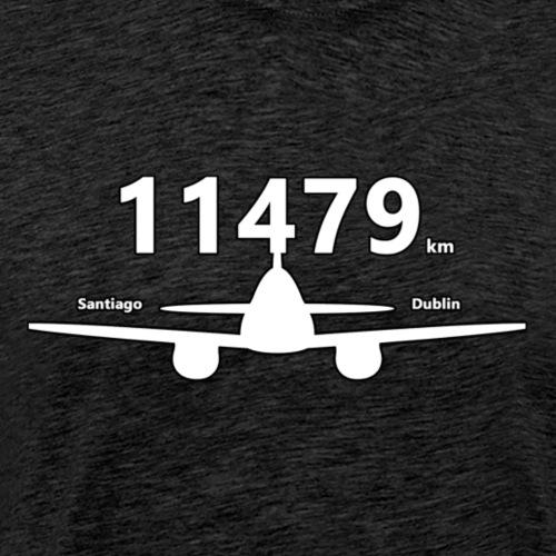 11479km : Santiago to Dublin - T-shirt Premium Homme