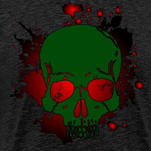 Skull Schädel mit blutigem Hintergrund brutal - Männer Premium T-Shirt