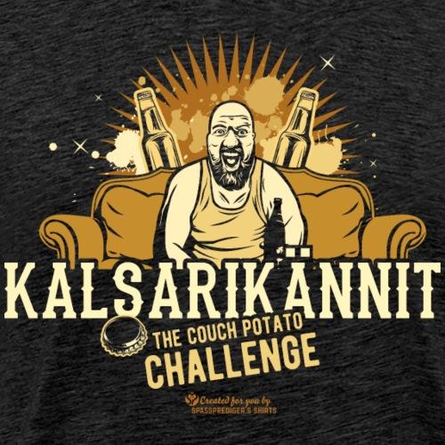 Kalsarikännit Couch Potato Challenge - Männer Premium T-Shirt