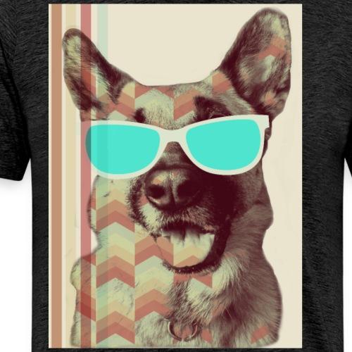 Deutscher Schäferhund Hundepapa Hundemama - Männer Premium T-Shirt