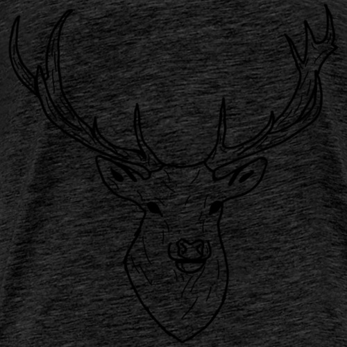 Deer White & Black - T-shirt Premium Homme