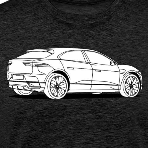 jag white - Men's Premium T-Shirt