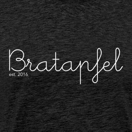 Bratapfel Writing White - Männer Premium T-Shirt