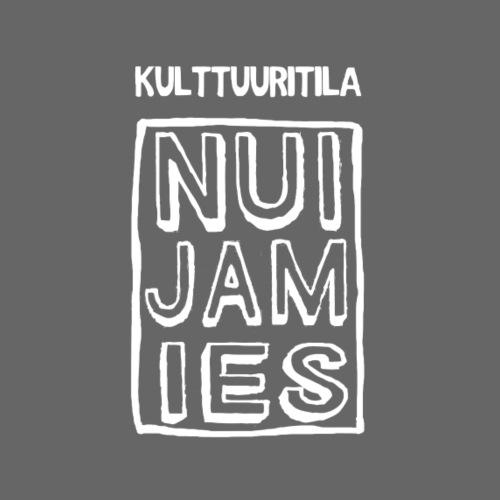 NUI-JAM-IES valkoinen - Miesten premium t-paita